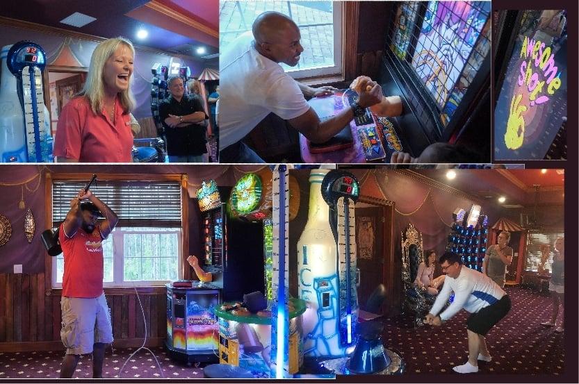 hammer strike, skeeball, and more arcade games at this vacation rental home near Orlando