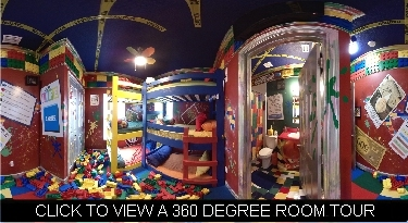 games gone wild bedroom with lego floor