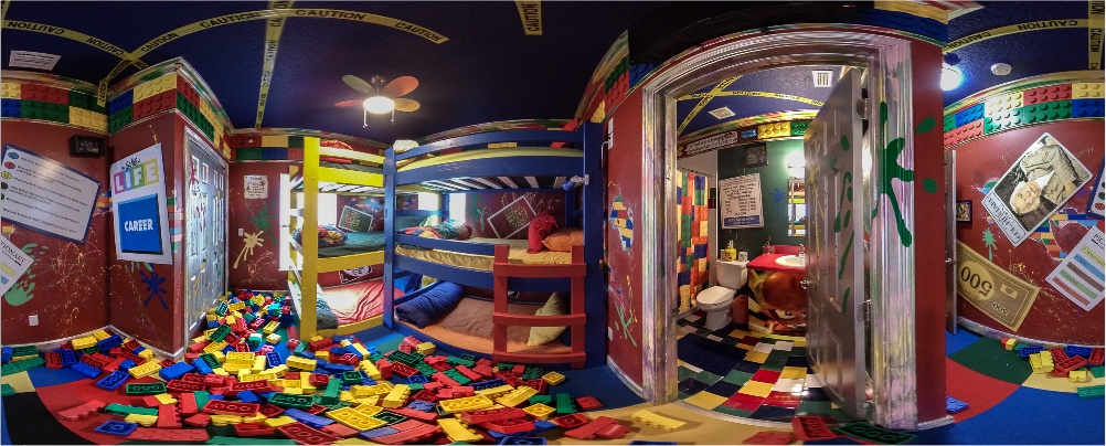 The Great Escape Parkside luxury vacation retreat rental near Orlando FL - Bedroom with lego