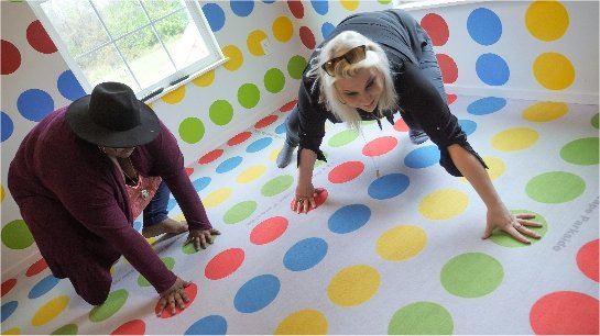 Play giant Twister at Great Escape Parkside