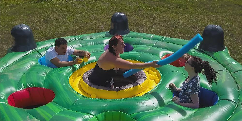 Giant inflatable whack-a-mole for all ages at this luxury vacation rental home in Central Florida