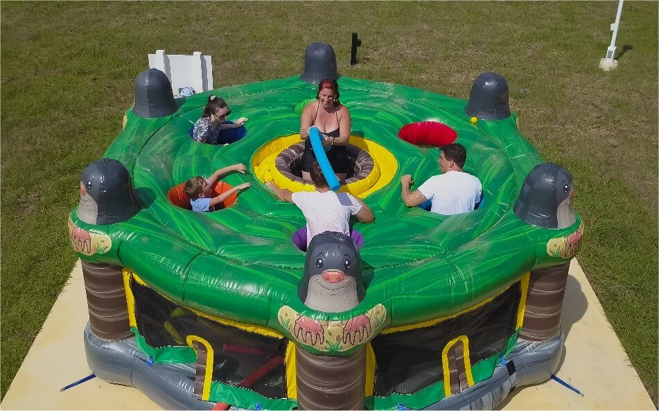 Giant inflatable whack-a-mole game
