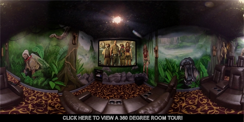 Welcome To The Jungle ... At The Jumanji Home Theater at The Great Escape Parkside Luxury Vacation Retreat Rental !