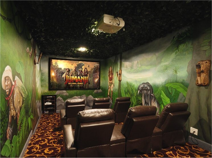 Check out this jumanji - welcome to the jungle home theater!