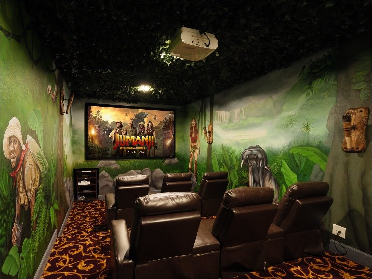 Welcome To The Jungle at Great Escape Parkside's Home Theater - Check out our luxury vacation retreat rental