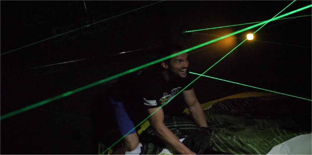 play a laser maze near Disney and Orlando at this vacation retreat rental