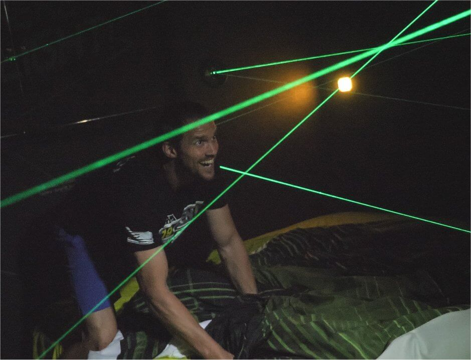 laser maze in a house for rent!
