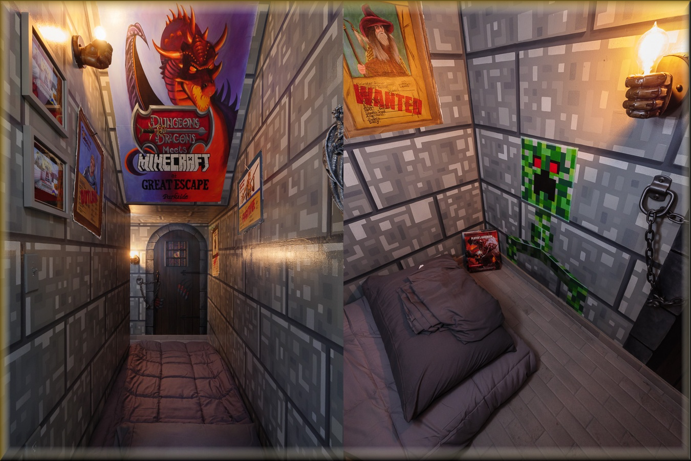 photo of minecraft and d&d dungeons and dragons bedroom