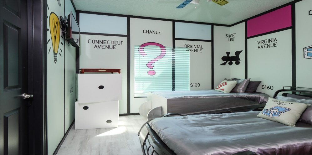 The Monopoly Bedroom at Great Escape Parkside