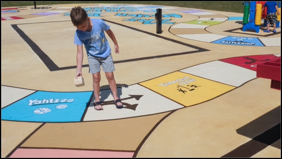 Giant board game outdoors in Florida