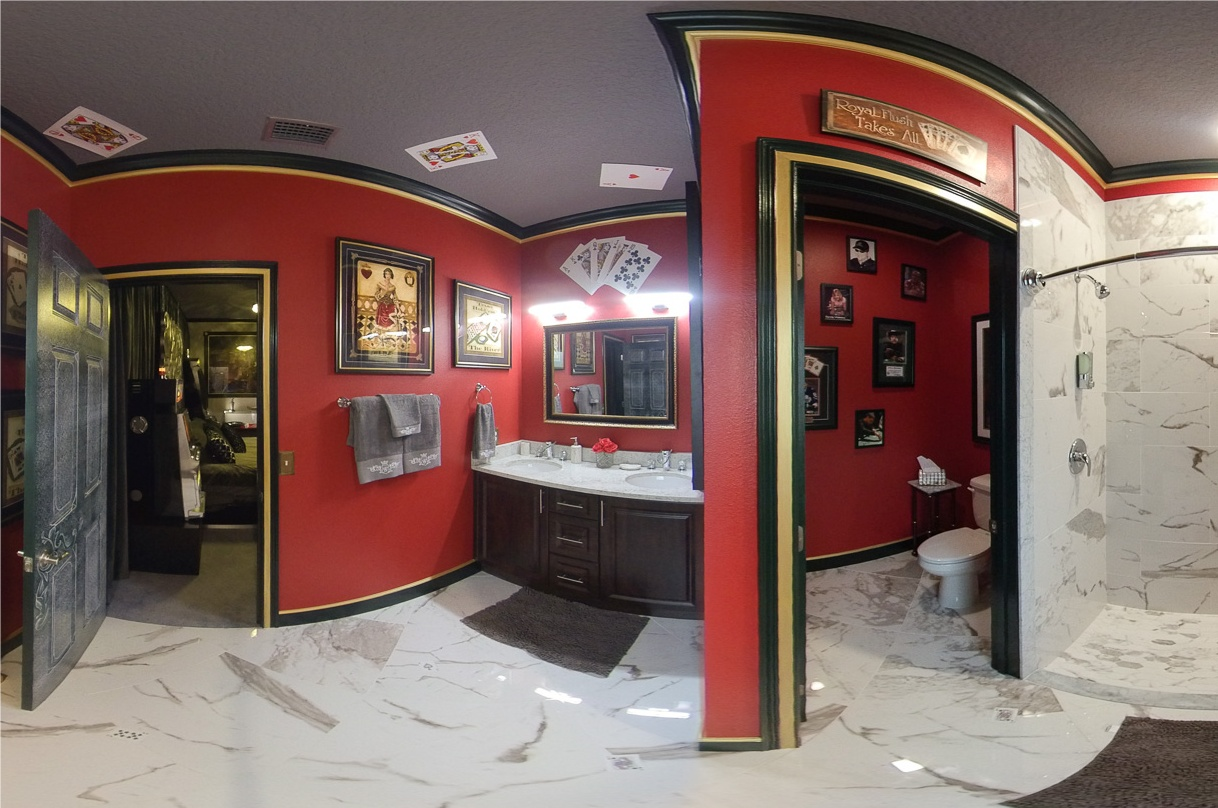 The Casino Games Bathroom at Great Escape Parkside