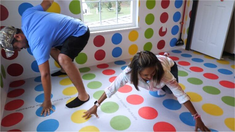 Play Twister at The Great Escape Parkside luxury vacation retreat rental
